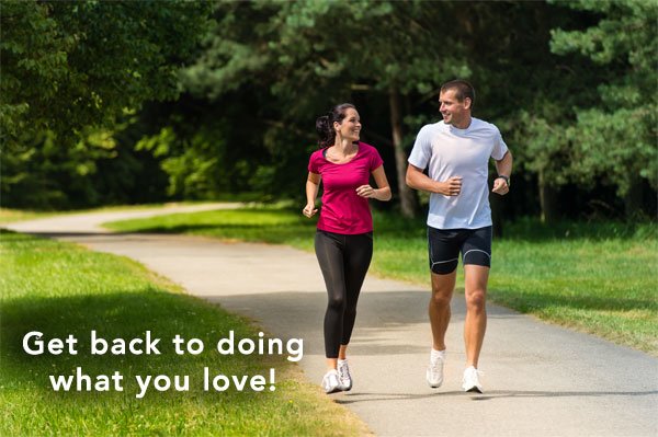 Couple jogging - healthy